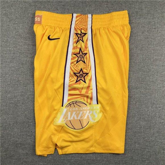 Lakers yellow shorts